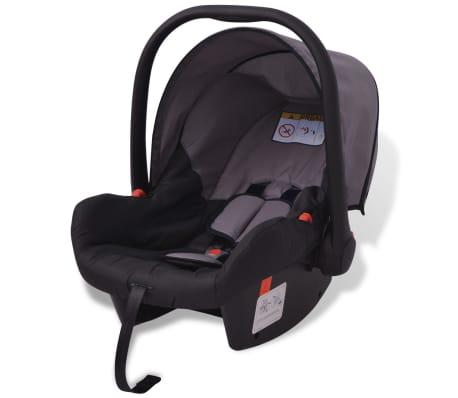 vidaXL 3-in-1 Vaikiškas sulankstomas vežimėlis, aliuminis, pilkas/juodas[6/12]