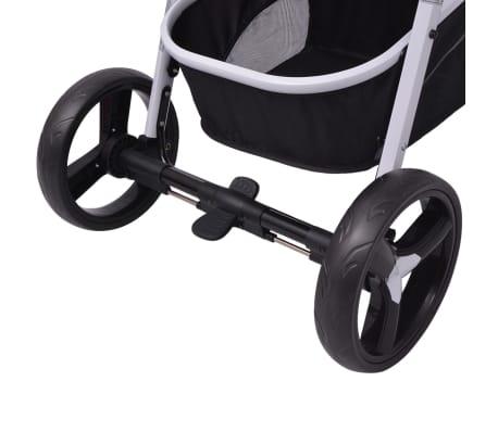 vidaXL 3-in-1 Vaikiškas sulankstomas vežimėlis, aliuminis, pilkas/juodas[10/12]