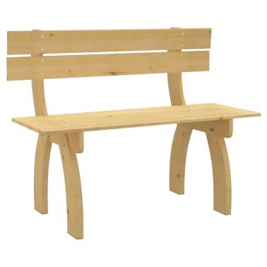 vidaXL Banco de jardín de madera de pino impregnada 150 cm[1/3]
