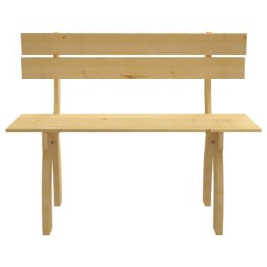vidaXL Banco de jardín de madera de pino impregnada 150 cm[2/3]