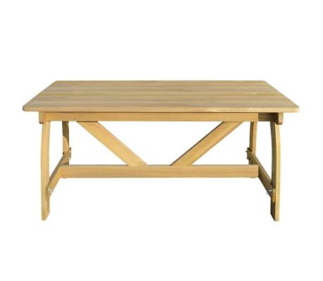 vidaXL Table de jardin Bois de pin imprégné FSC