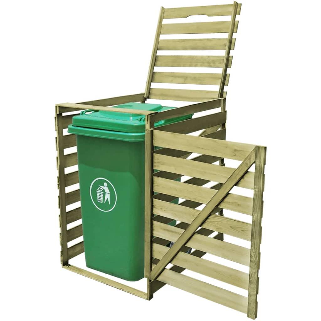 Přístřešek na jednu popelnici 240 l impregnované FSC dřevo