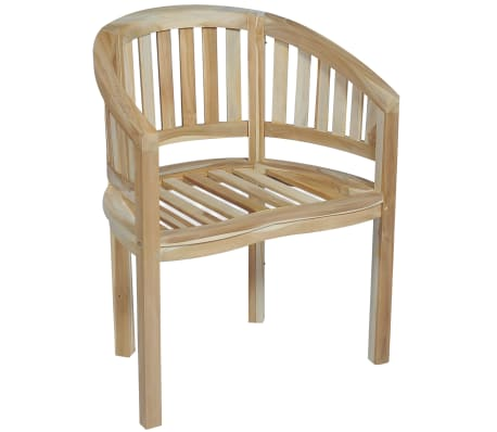 Awe Inspiring Vidaxl Banana Chair Solid Teak Wood Caraccident5 Cool Chair Designs And Ideas Caraccident5Info