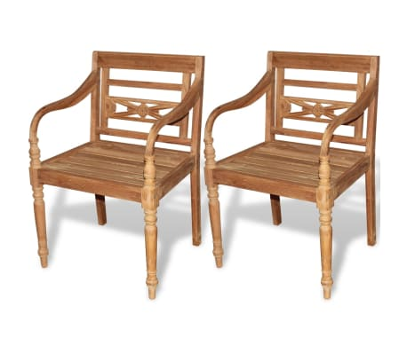 vidaXL Teak Batavia Chair 2 pcs[1/5]