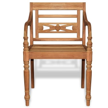 vidaXL Teak Batavia Chair 2 pcs[3/5]