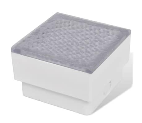 vidaXL Luzes LED de encastrar no chão 6 pcs 100x100x68 mm[3/9]