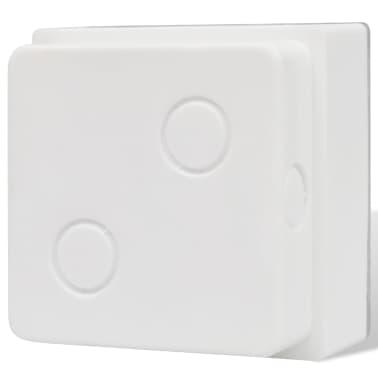 vidaXL Luzes LED de encastrar no chão 6 pcs 100x100x68 mm[6/9]