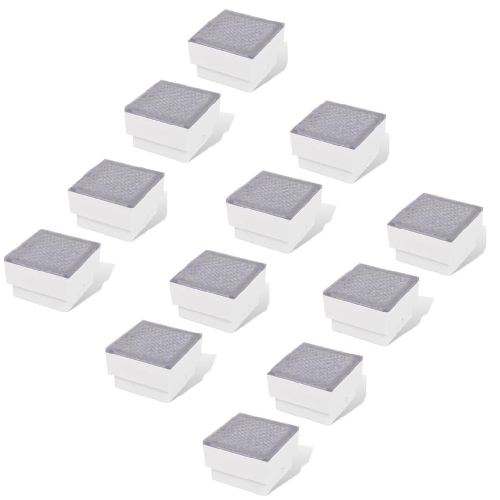 vidaXL Φωτιστικά Χωνευτά LED 12 τεμ. 100 x 100 x 68 χιλ.