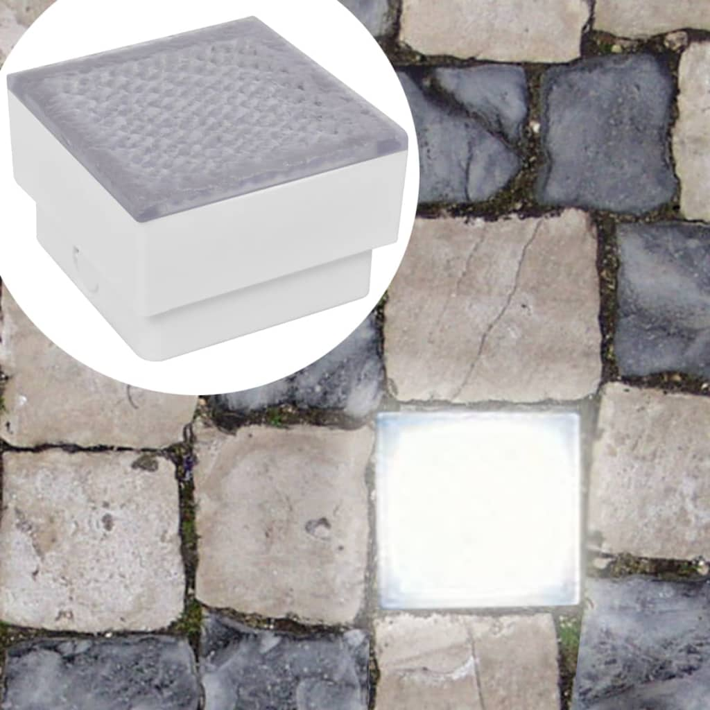 vidaXL LED zemní svítidla 12 ks 100x100x68 mm