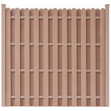 "vidaXL Fence Panel with 2 Posts WPC 71""x71"" Brown[1/5]"