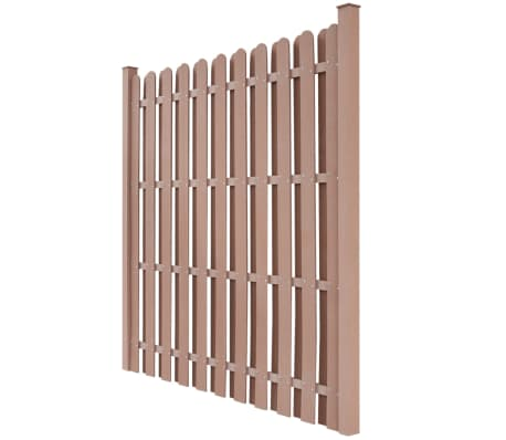 "vidaXL Fence Panel with 2 Posts WPC 71""x71"" Brown[2/5]"