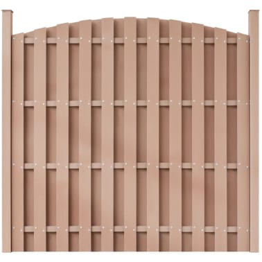 vidaXL WPC Fence Panel Round Brown[1/5]