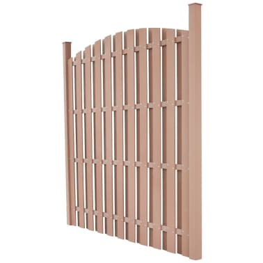 vidaXL WPC Fence Panel Round Brown[2/5]