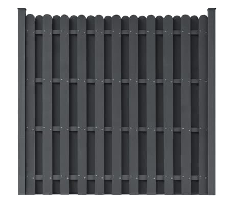 "vidaXL Fence Panel with 2 Posts WPC 71""x71"" Grey[1/5]"