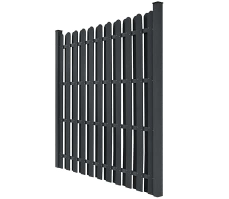 vidaXL WPC Fence Panel Square Gray[2/5]