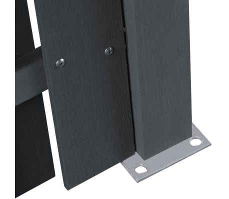 vidaXL WPC Fence Panel Square Gray[3/5]