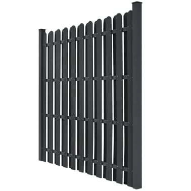"vidaXL Fence Panel with 2 Posts WPC 71""x71"" Grey[2/5]"