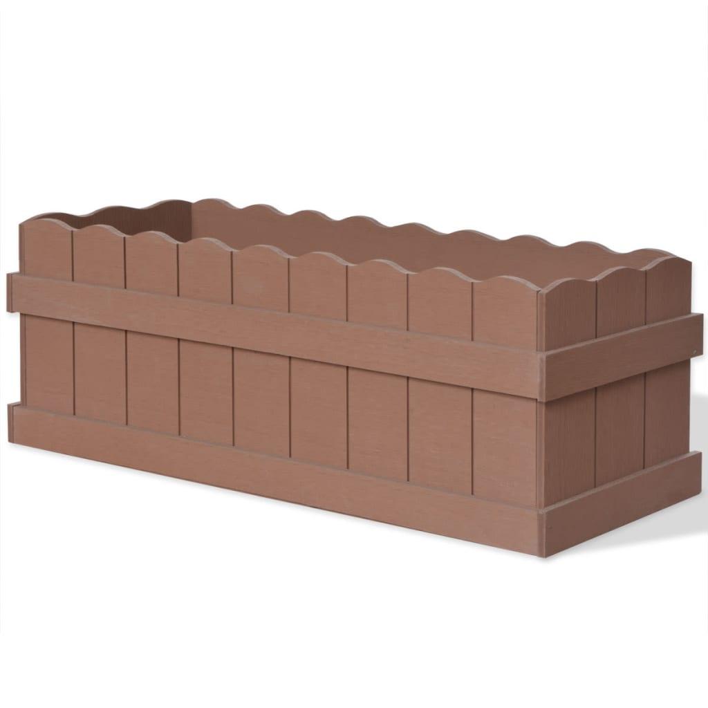 Dřevoplastový vyvýšený záhon 70 x 25 x 25 cm hnědý