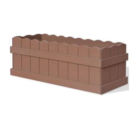 vidaXL WPC Garden Planter 70x25x25 cm Brown[1/6]