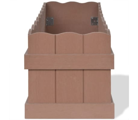 vidaXL WPC Garden Planter 70x25x25 cm Brown[3/6]