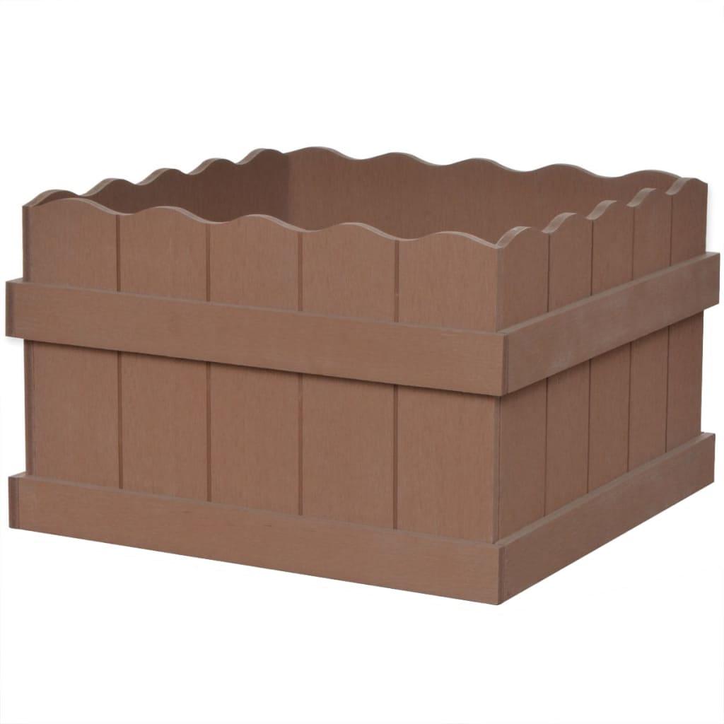 Dřevoplastový vyvýšený záhon 40 x 40 x 25 cm hnědý