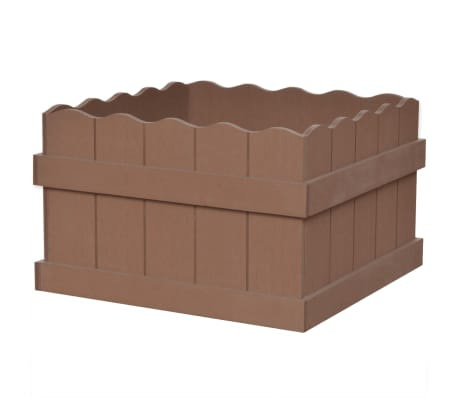 vidaXL WPC Garden Planter 40x40x25 cm Brown[1/5]