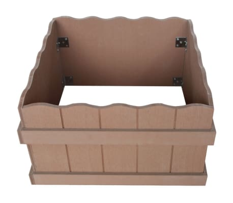 vidaXL WPC Garden Planter 40x40x25 cm Brown[3/5]