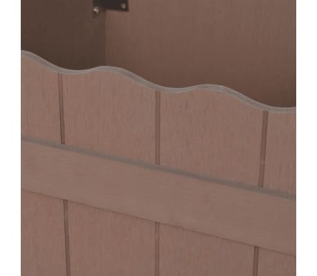 vidaXL WPC Garden Planter 40x40x25 cm Brown[4/5]