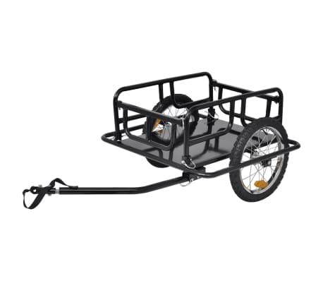 vidaXL Bike Cargo Trailer Black 50 kg