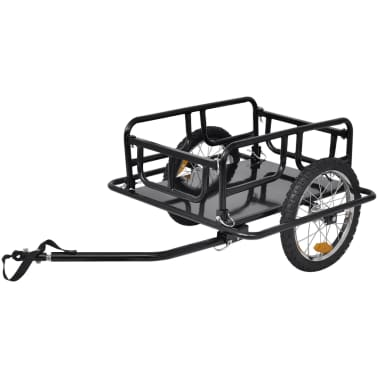 vidaXL Bike Cargo Trailer Black 110 lb[1/4]