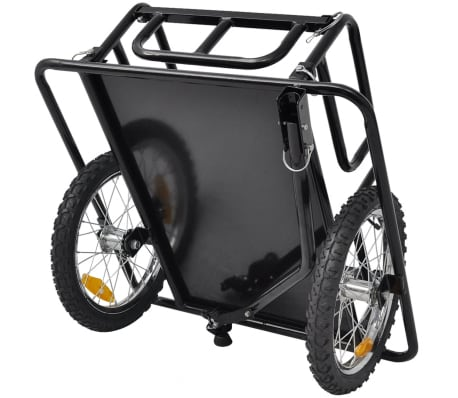 vidaXL Bike Cargo Trailer Black 110 lb[3/4]