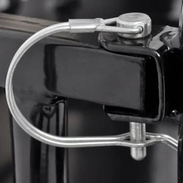 vidaXL Bike Cargo Trailer Black 110 lb[4/4]