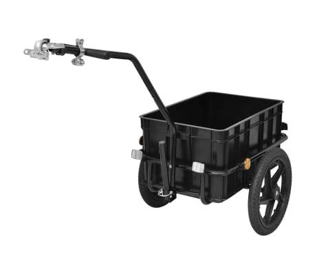 vidaXL Bike Cargo Trailer/Hand Wagon Black 15 gal[4/6]