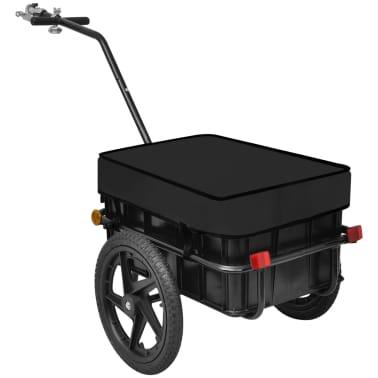 vidaXL Bike Cargo Trailer/Hand Wagon Black 15 gal[2/6]
