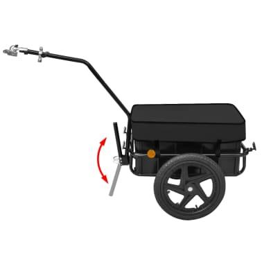vidaXL Bike Cargo Trailer/Hand Wagon Black 15 gal[3/6]