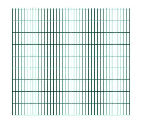 vidaXL 2D Stängselpaneler 2,008x1,83 m grön