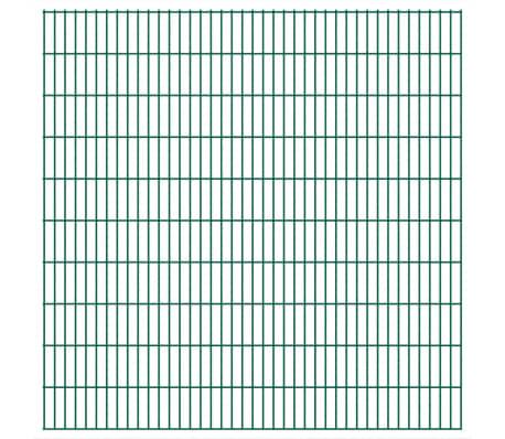 vidaXL 2D Stängselpaneler 2,008x2,03 m grön