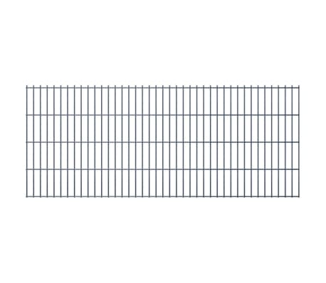 vidaXL Dubbelstaafmat 2,008x0,83 m grijs