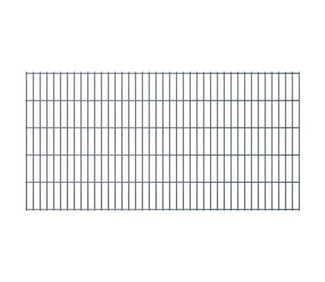 vidaXL 2D Stängselpaneler 2,008x1,03 m grå