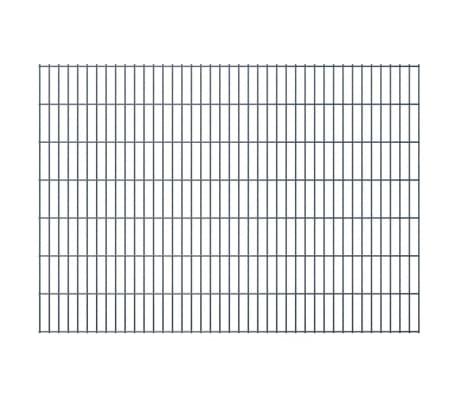vidaXL 2D Stängselpaneler 2,008x1,43 m grå