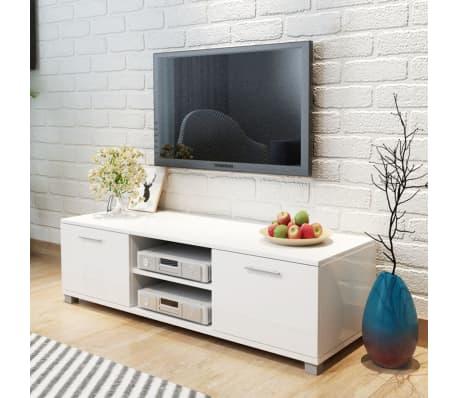 vidaXL Tv-meubel hoogglans wit 120x40,3x34,7 cm[1/5]