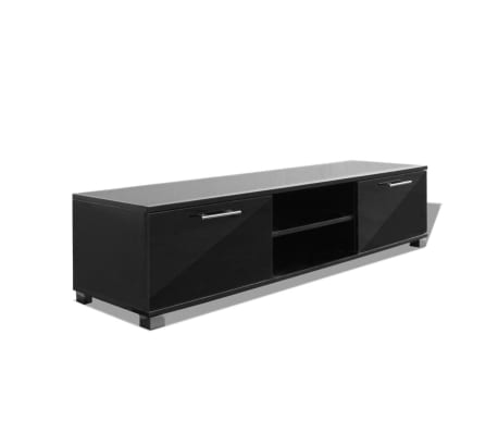 vidaxl tv schrank hochglanz schwarz 120x40 3x34 7 cm g nstig kaufen. Black Bedroom Furniture Sets. Home Design Ideas