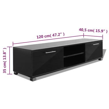vidaXL TV Schrank Hochglanz Schwarz 120x40,3x34,7 cm[5/5]