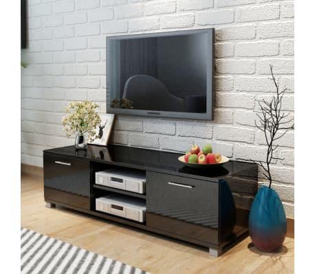 vidaxl tv schrank hochglanz schwarz 120x40 3x34 7 cm g nstig kaufen. Black Bedroom Furniture Sets. Home Design Ideas