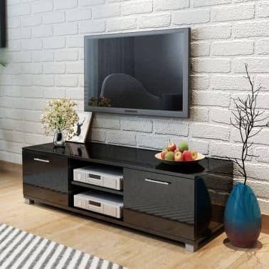vidaXL TV Schrank Hochglanz Schwarz 120x40,3x34,7 cm[1/5]