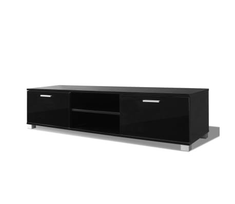 vidaxl tv schrank hochglanz schwarz 140x40 3x34 7 cm g nstig kaufen. Black Bedroom Furniture Sets. Home Design Ideas