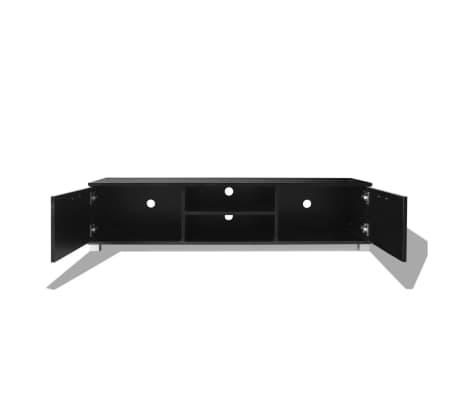 vidaXL Tv-Meubel 140x40,3x34,7 cm hoogglans zwart[4/5]