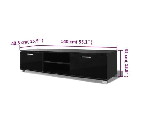 vidaXL Tv-Meubel 140x40,3x34,7 cm hoogglans zwart[5/5]