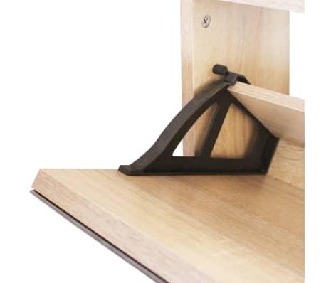 vidaXL skoskab 2 rum spejl egetræ 63 x 17 x 67 cm[5/6]