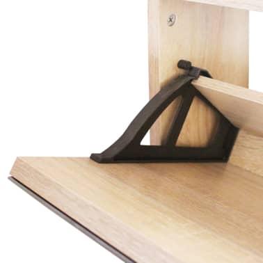vidaXL Mueble zapatero de roble con 3 compartimentos con espejo[5/6]